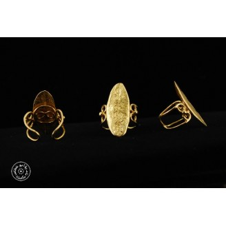 Gold plated ring with 1 big olive leaf