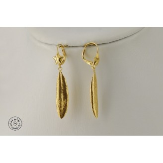 Gold plated earring  (closed hook with a star)
