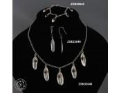 Sterling silver earring with garnet bead